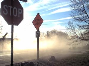 Contruction dust on Brookd Drive