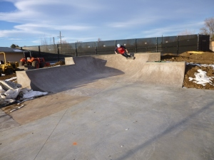 The McKenzie brothers trying out the new skate spot