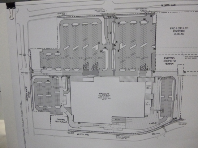 Concept plan for Walmart