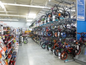 Bicycles at the new Lakeside Walmart