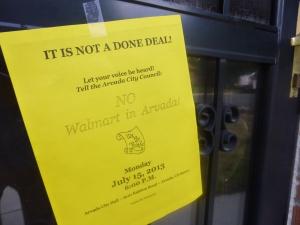 Anti-Walmart Flyer