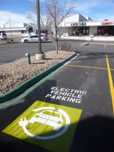 Complementary electric vehicle charging station at the Arvada ER