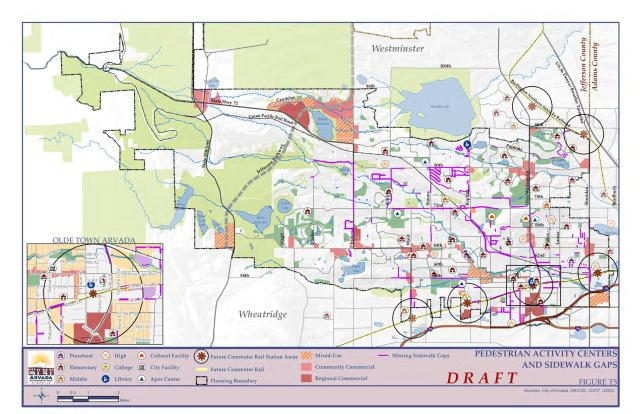 Pedestrian Activity Centers -- Comp Plan Draft