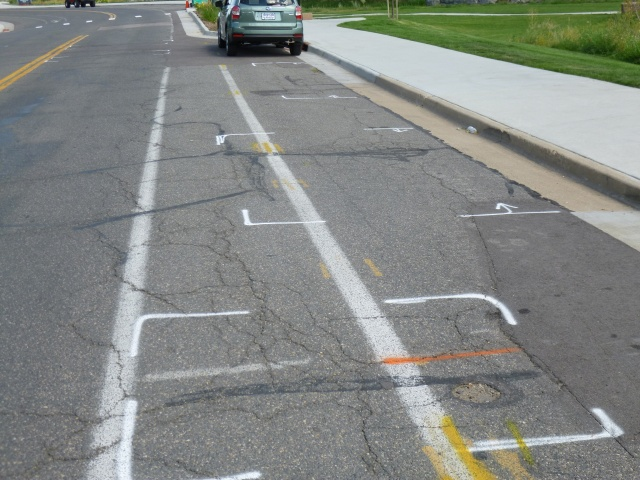 Brooks Drive Repair Area Markings