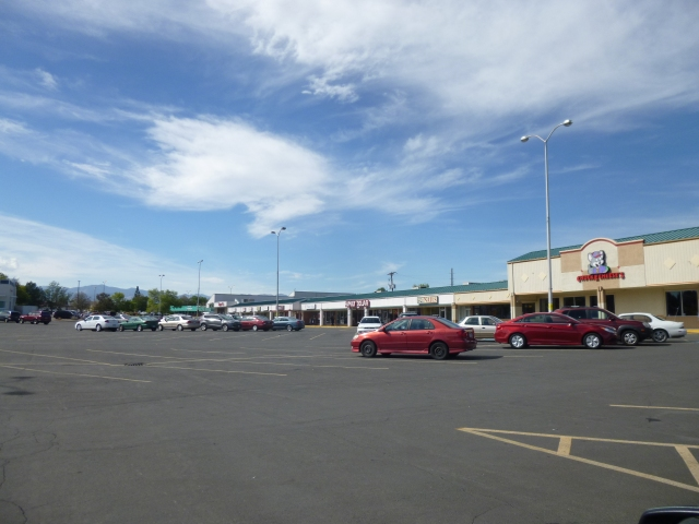The Chuck E Cheese part of the Ralston Creek North strip mall