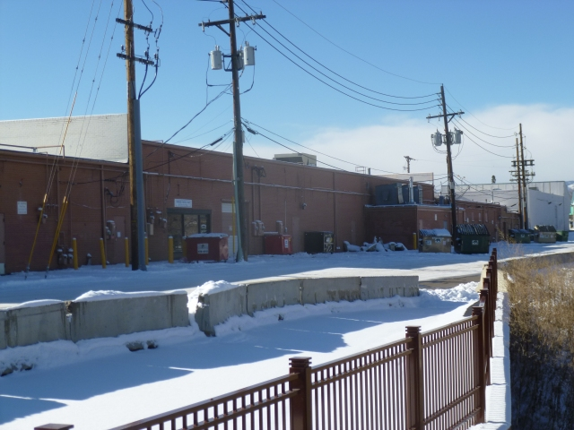 The alley that now faces Ralston Creek and the residences along Brooks Drive