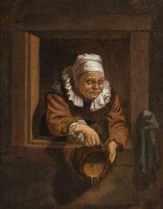 after Leyden painter Frans van Mieris the Elder