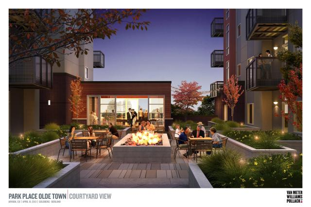 Proposed Park Place common patio area