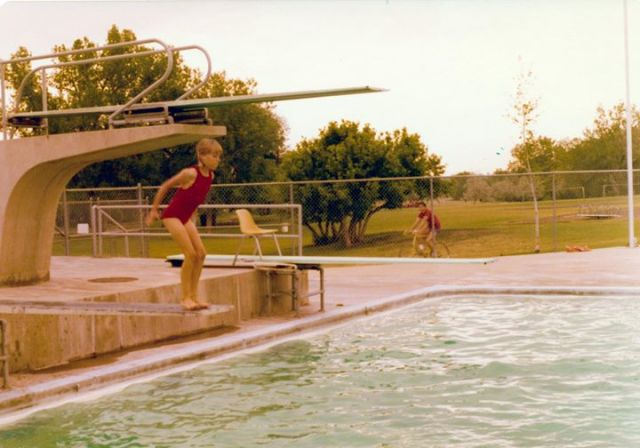 Fisher Pool 1960's -- Apex's first recreational facility