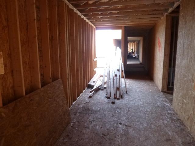 Interior hallway under construction