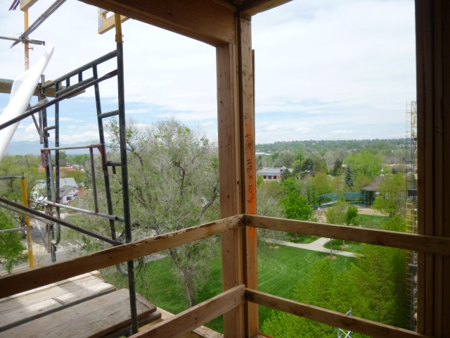 The view toward Long's Peak from an upper-level apartment