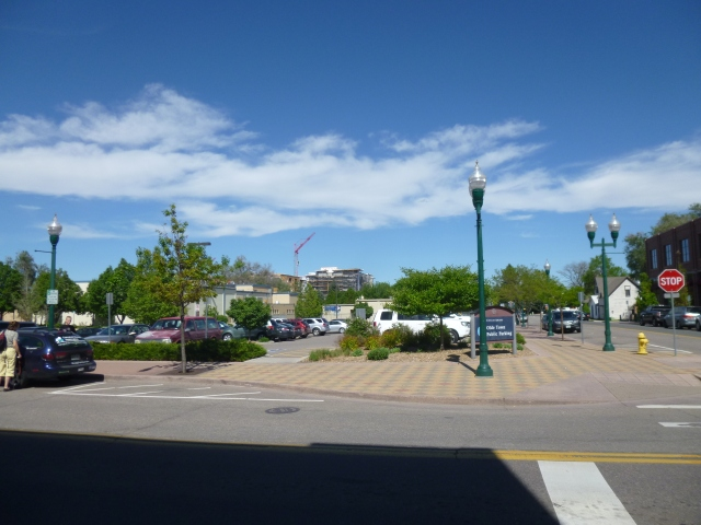 View from heart of Olde Town from the Arvada Public Library