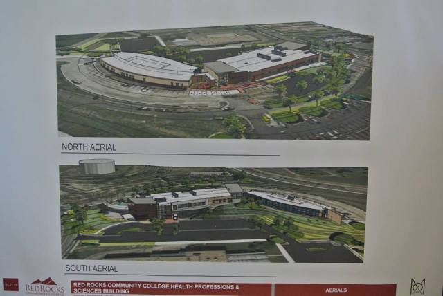 RRCC ground breaking display board.  The building on the right in the top view is the expansion.