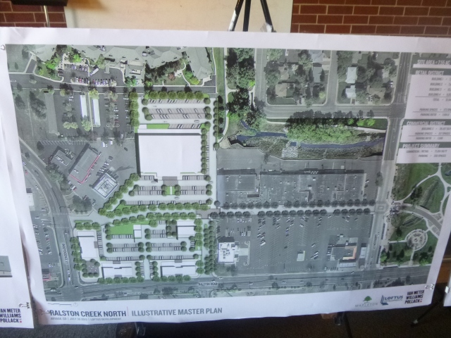 Arvada Square - proposed buildings are in white