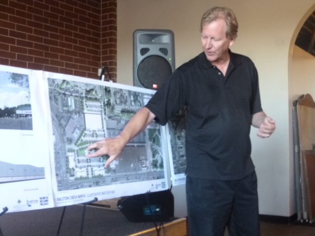 Architect Tim Van Meter describing the development area