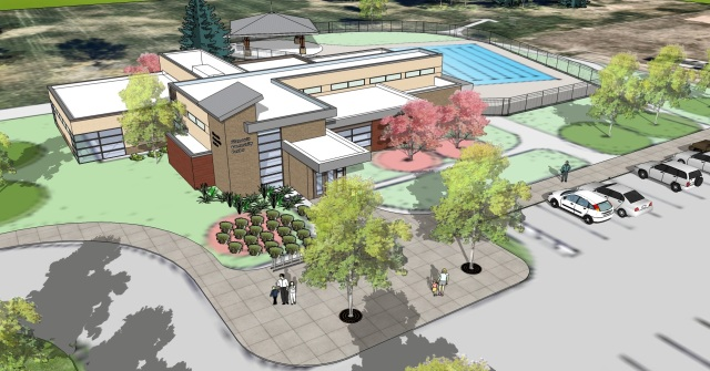 Design concept for a pool and rec center at Fitzmorris Park