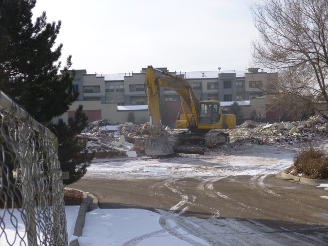 Demolition for the construction of the Hilton Garden Inn on Olde Wadsworth