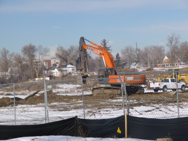 Site clearance for the Solana apartments on 56th Avenue east of Wads Bypass