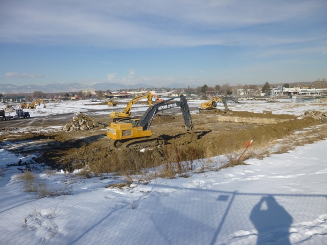Arvada Plaza demolition at the old movie theater