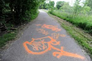 Graffiti at Garden Homes Park. Angela J. Cesere | AnnArbor.com