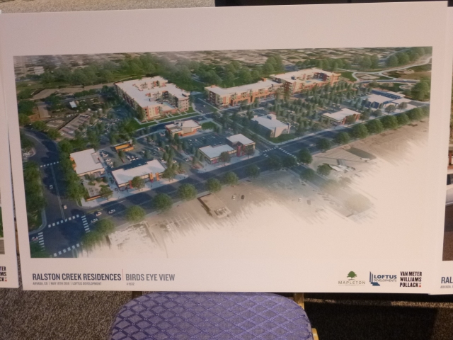 Aerial view of the proposed Arvada Square redevelopment