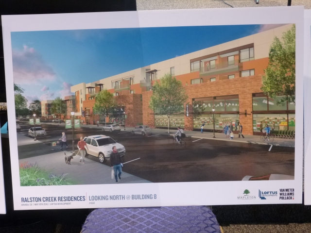 Proposed small-format grocery store with apartments above