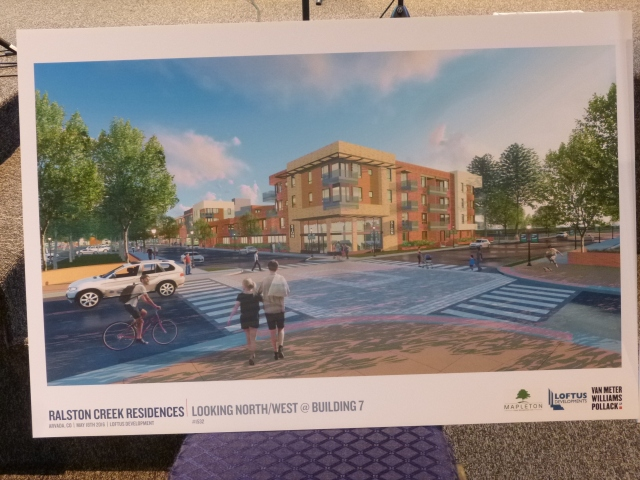View of the proposed development from the entrance to Ralston Central Park on Garrison Street
