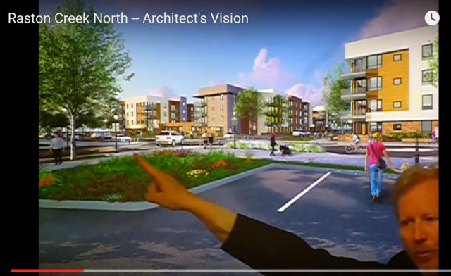 Architect showing the design concepts for Ralston Creek North's Phase II development